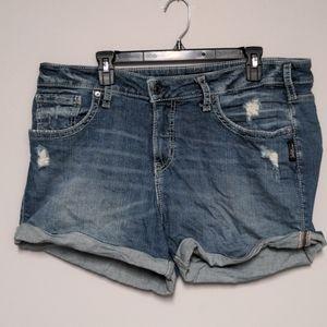 EUC Silver Jean Shorts